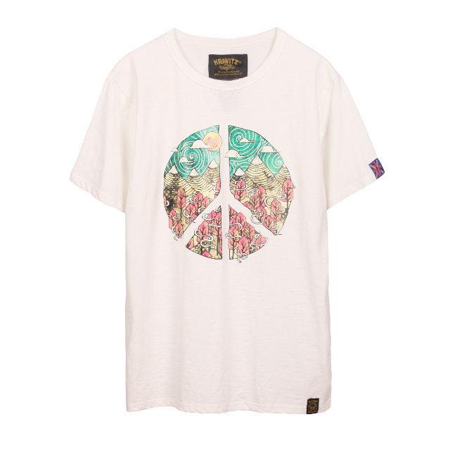KRAVITZ ピースマーク Tシャツ 〈White〉