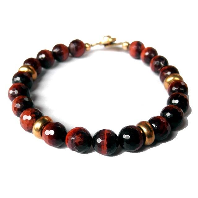 """Golf Ball Bracelet """"Red Tiger Eye"""" ( ゴルフ / ブレスレット)"""