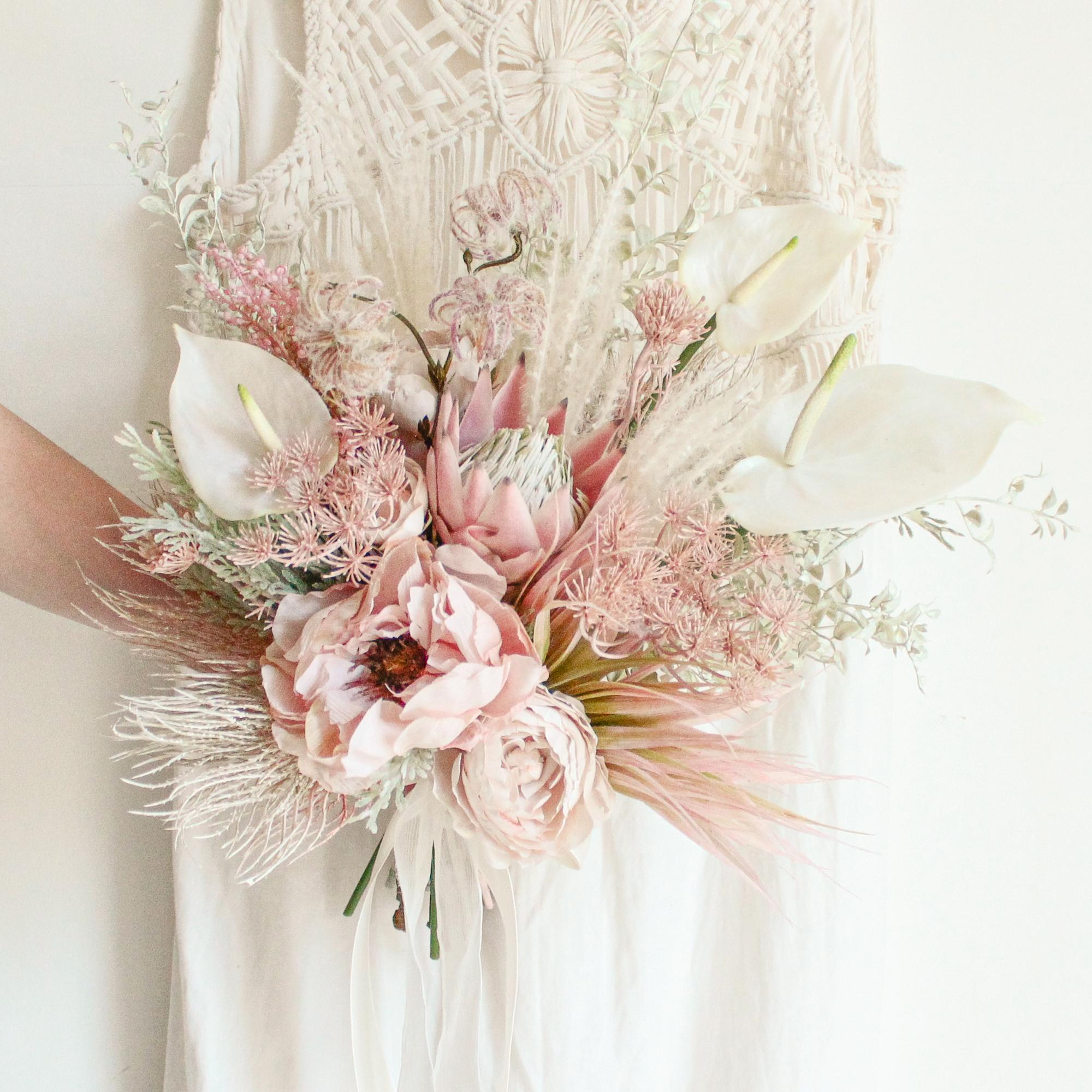 Pink gradation Bouquet&Boutonniere