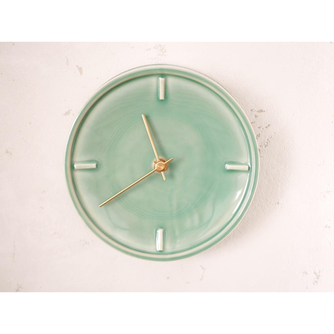 〔美濃焼〕Mint Green Glazed Clock by SUGY