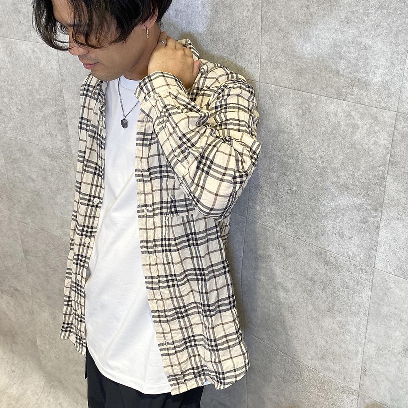 CHLORO/クロロ シャーリングチェックシャツ TJ6289M