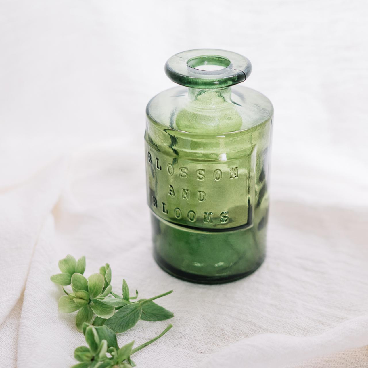 スペイン製リサイクルカラーボトル オリーブ|花器