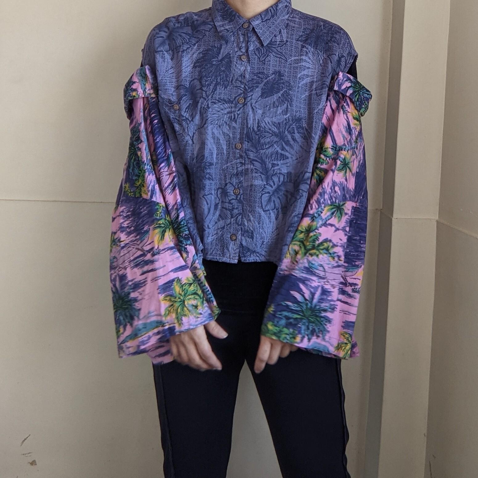 【 REHERSALL 】リハーズオール / W Aloha Shirt / ダブルアロハシャツ / リメイク