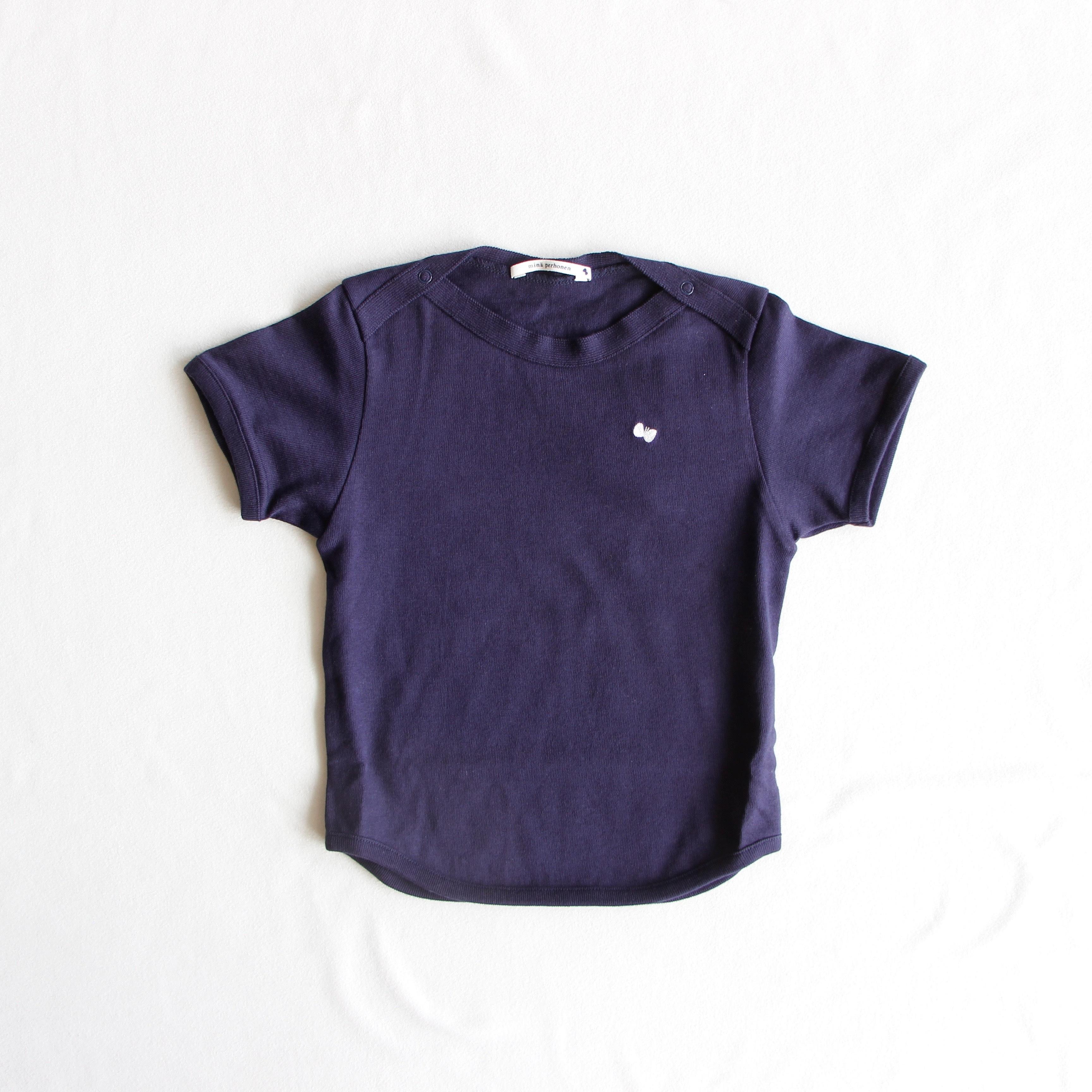 《mina perhonen》zutto Tシャツ / navy / 110cm