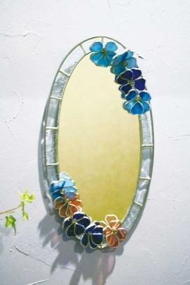 オーバルフラワー(ステングラスのミラー) 02060301