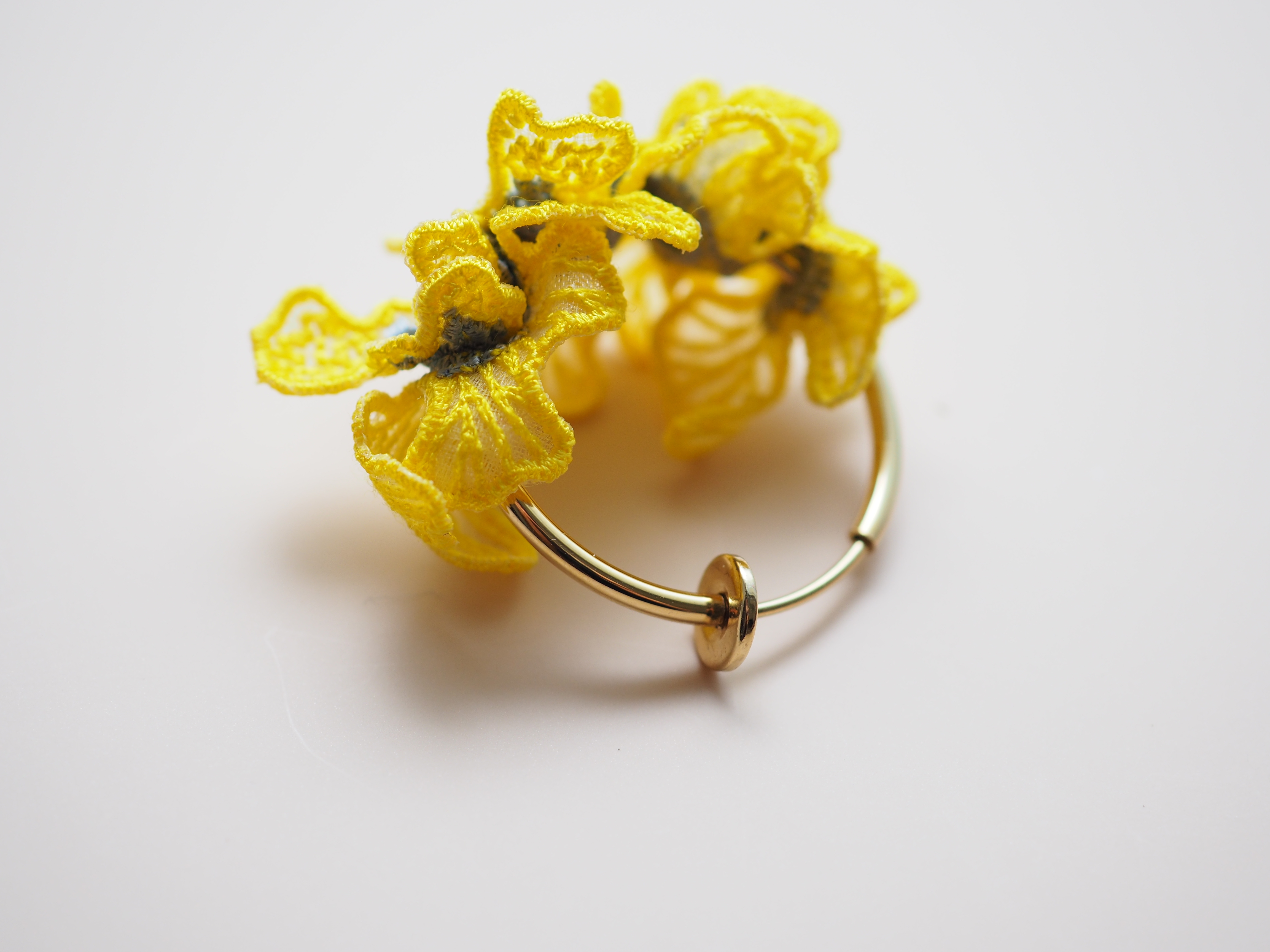 ARRO / Embroidery earring / SWELL / yellow