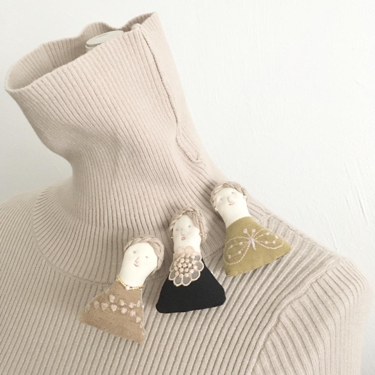 Doll-Brooch(ドールブローチ)/ドールのブローチ by Vár