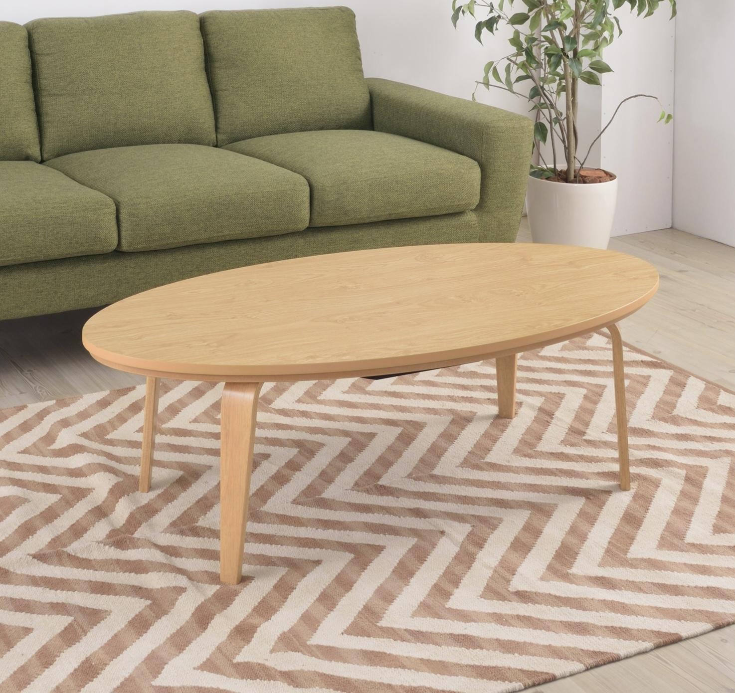 Natural Wood  KOTATSU Oval / コタツ センターテーブル 天然木風 カントリー