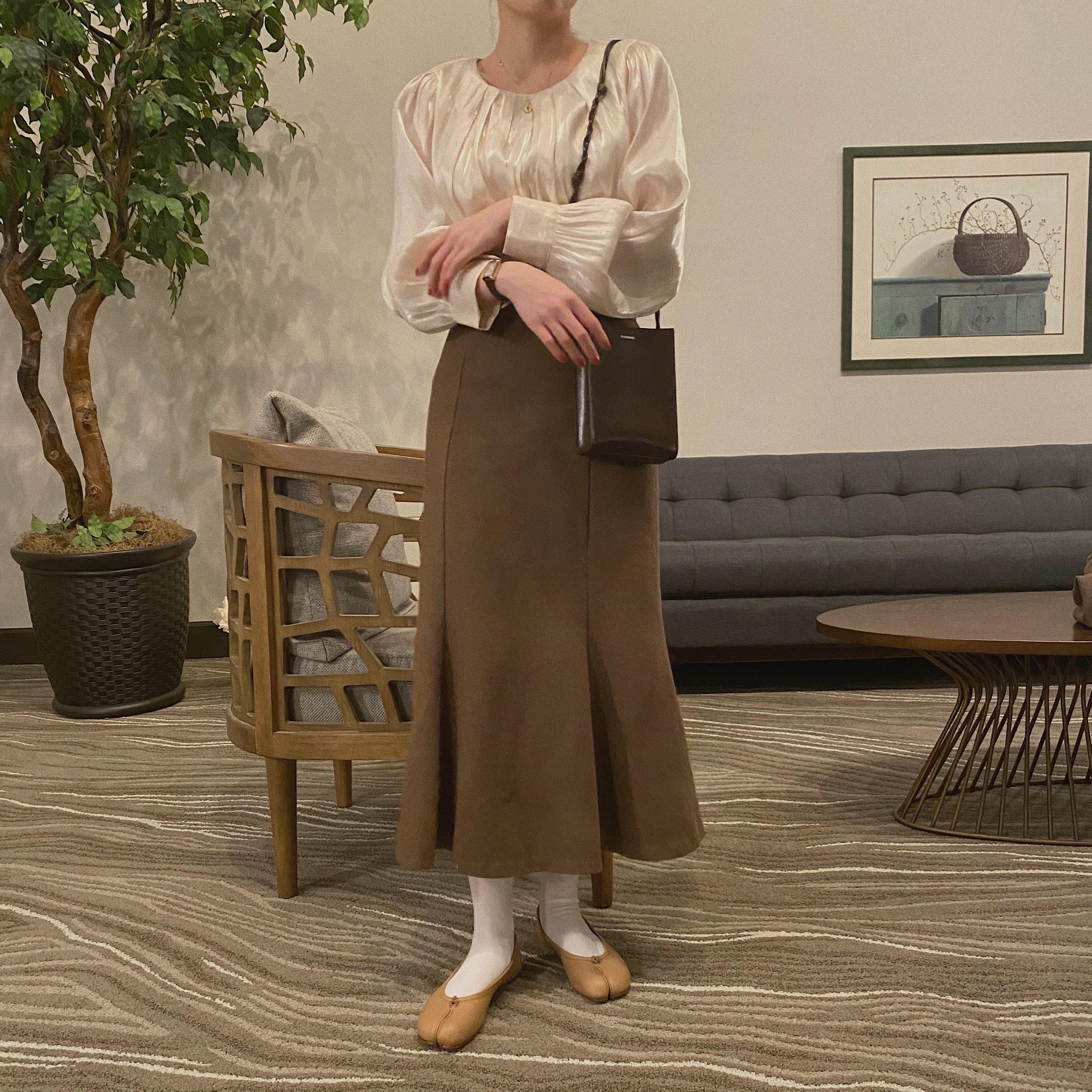 DAYNYC mermaid skirt (brown)