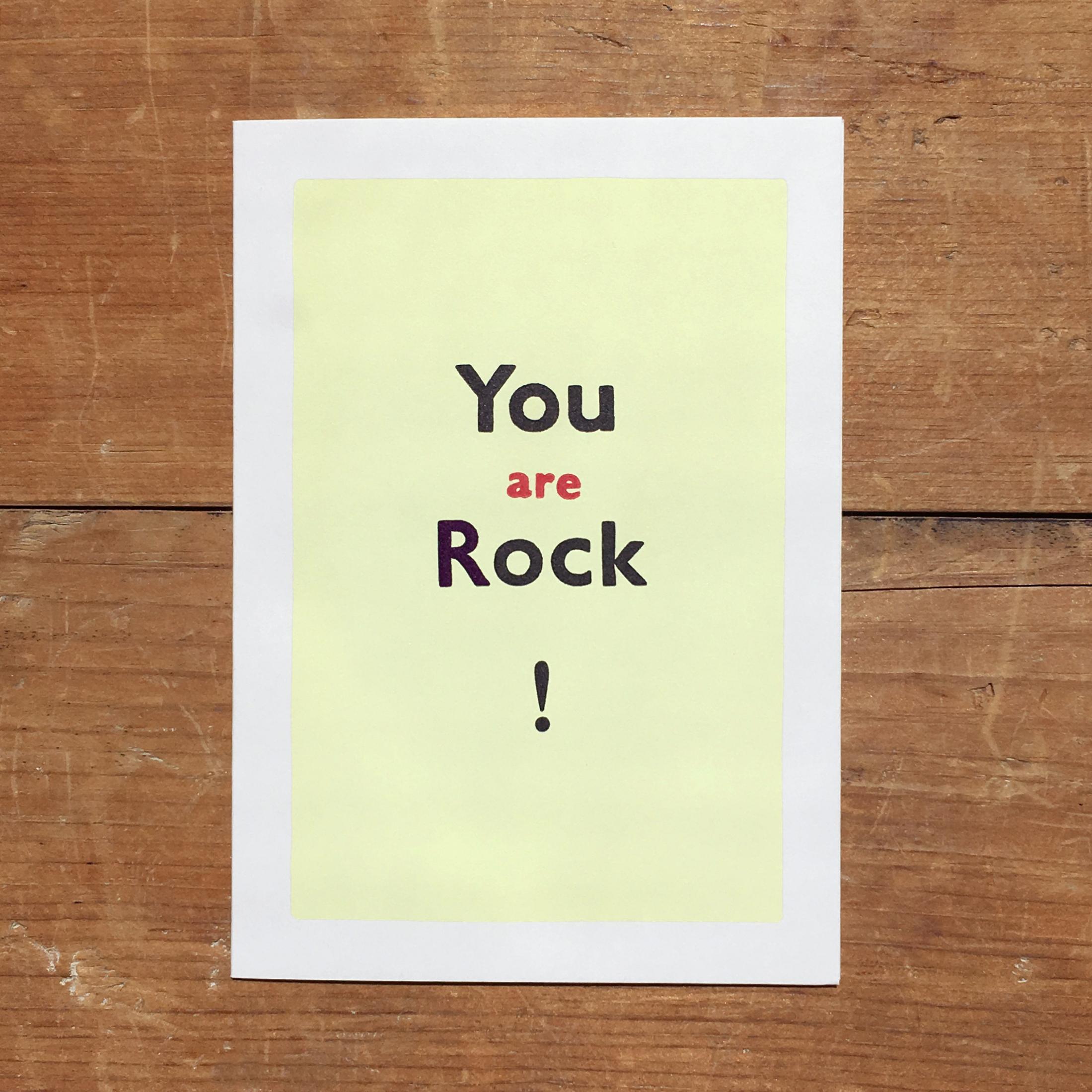 カード YOU ARE ROCK!  かっこいいね!