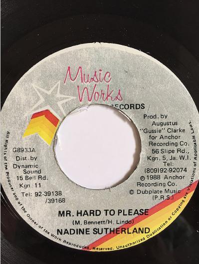 Nadine Sutherland(ナディーンスザーランド) - Mr Hard To Please【7'】