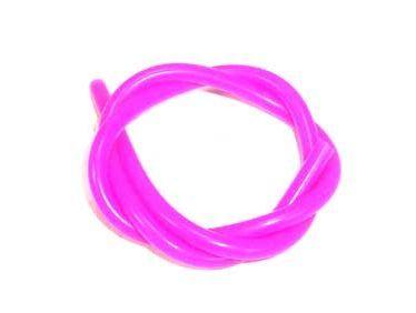 パープル★外径5mm / 内径2.5mm グロー燃料シリコンチューブ 、カラー(紫)長さ1m