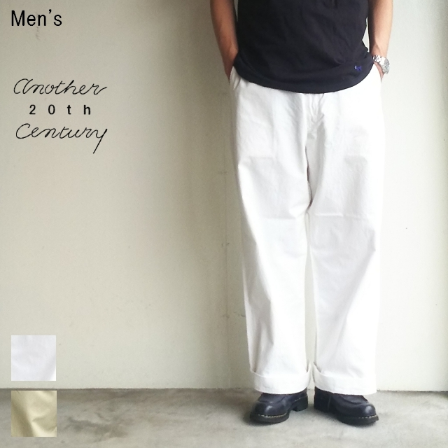 another 20th century ワイドチノトラウザー Yankees ACB-3006 (WHITE)