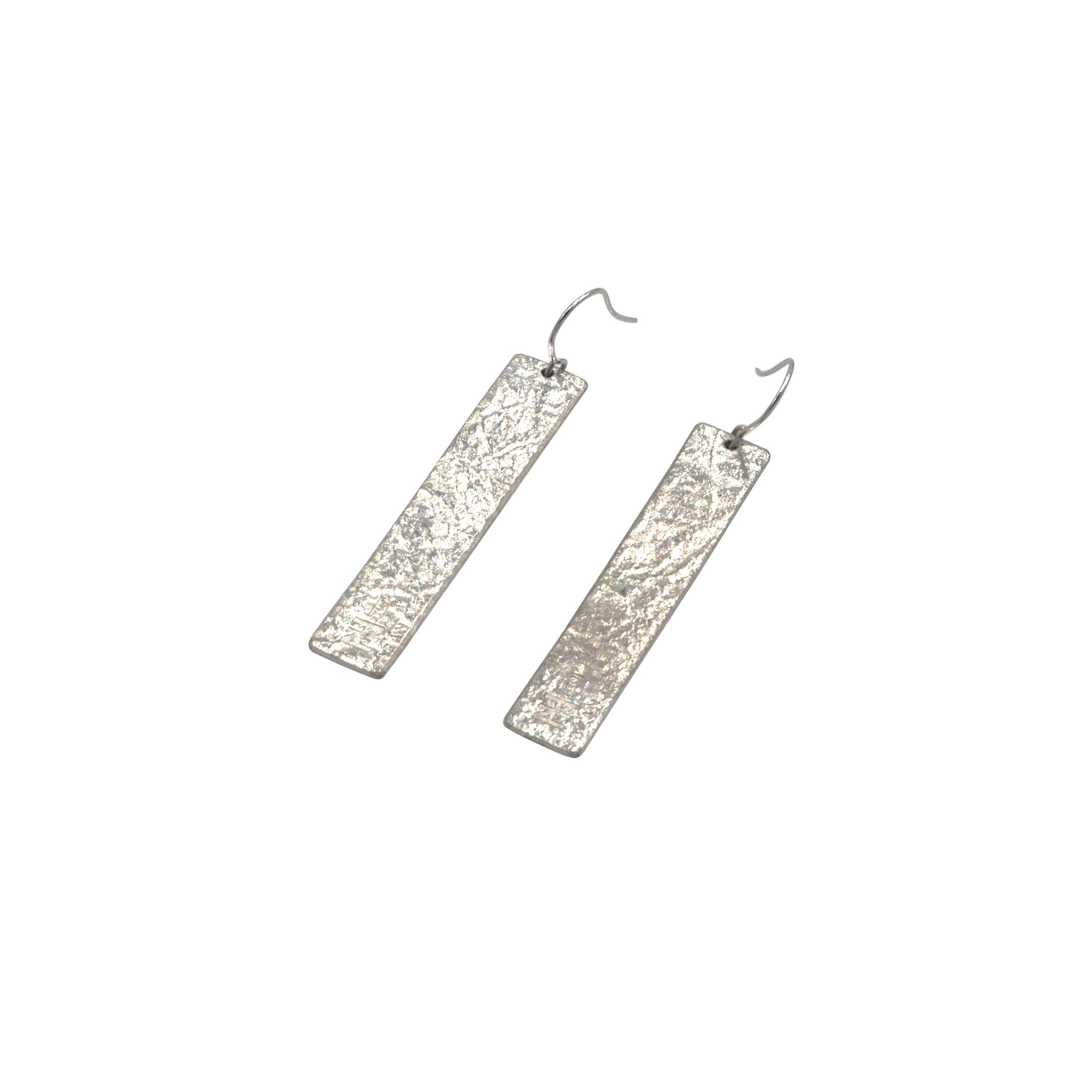《ピアス》TIN BREATH Pierced earrings H 10×50mm Silver