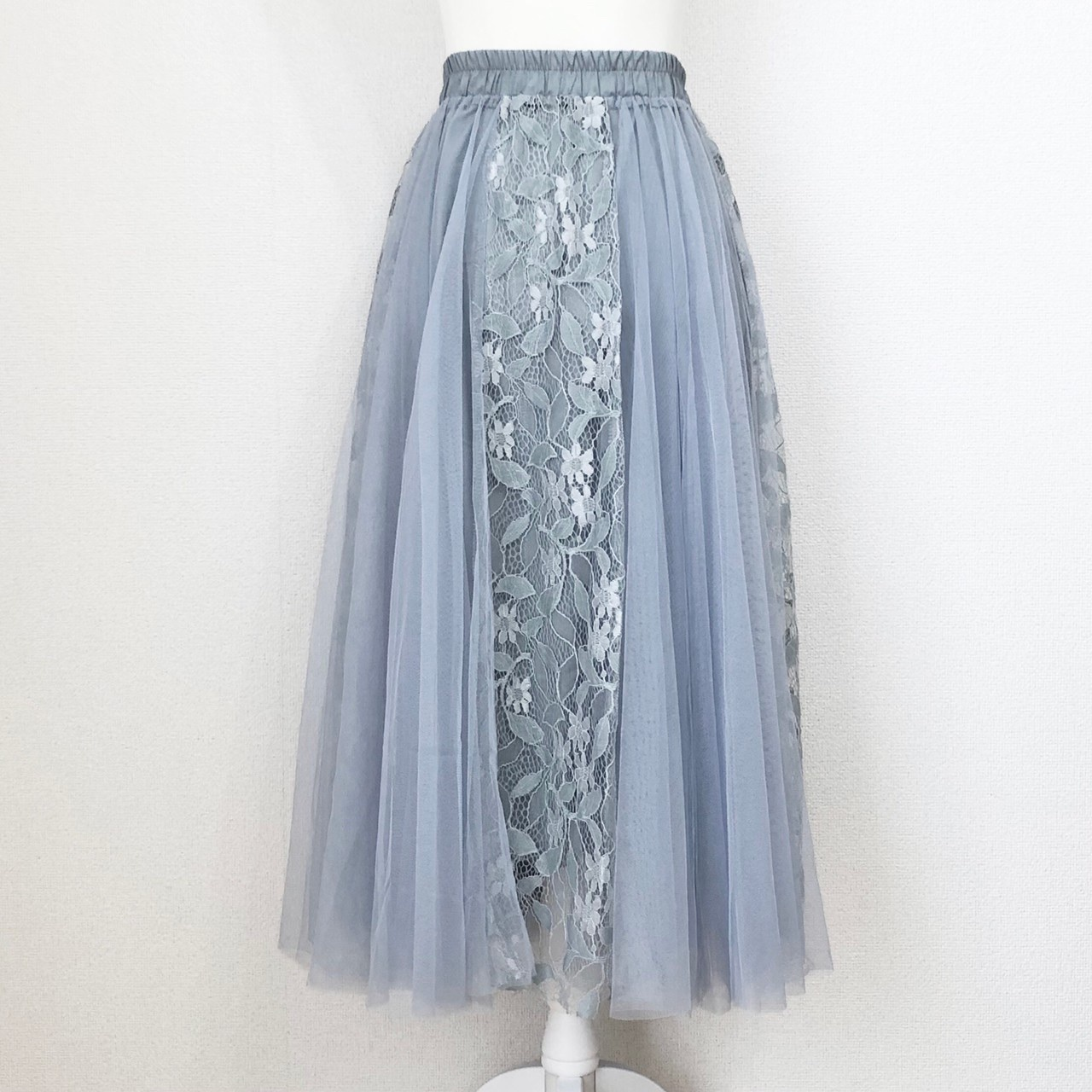 【Fluffy】チュール×フラワーレーススカート