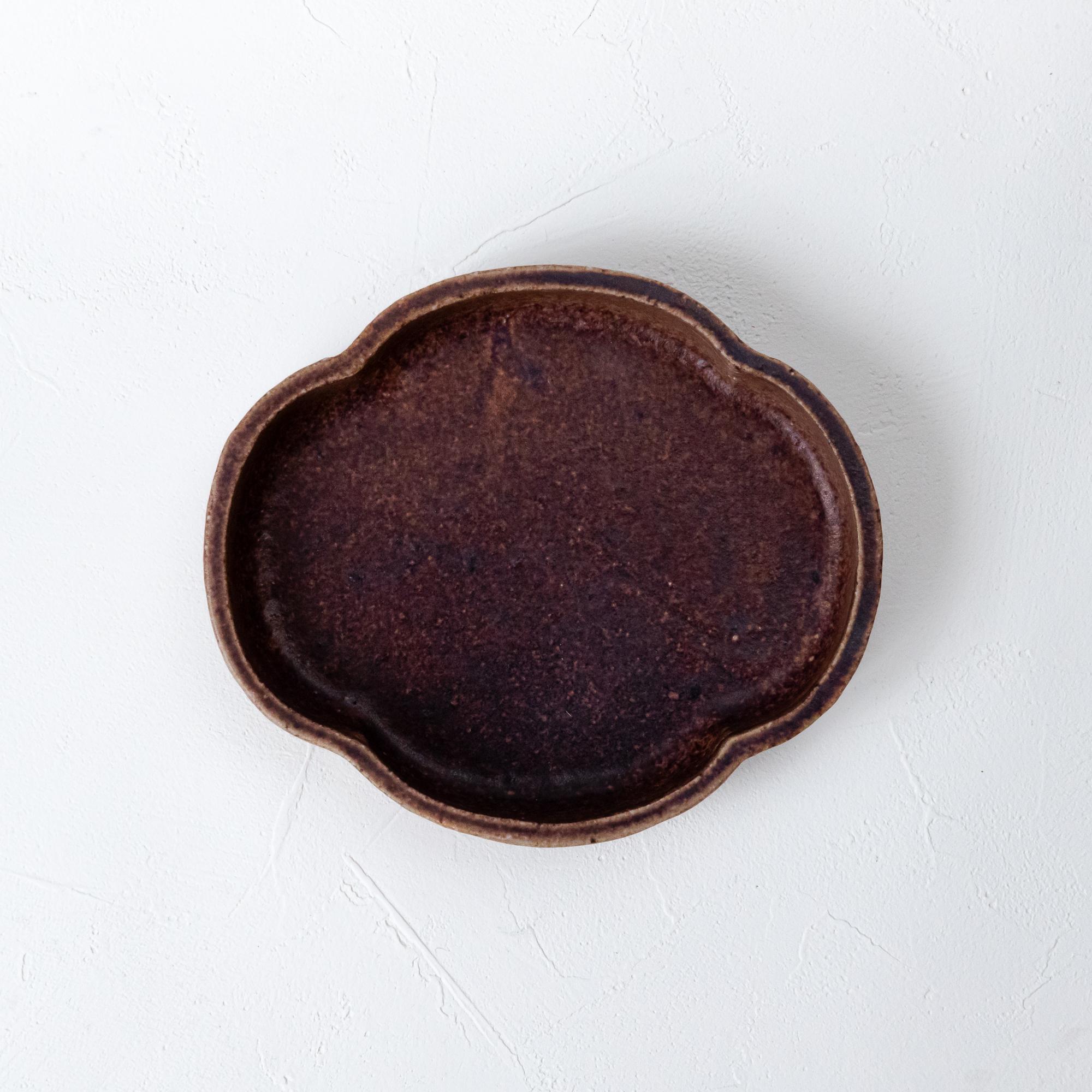 [蓮尾 寧子]あずき木瓜皿