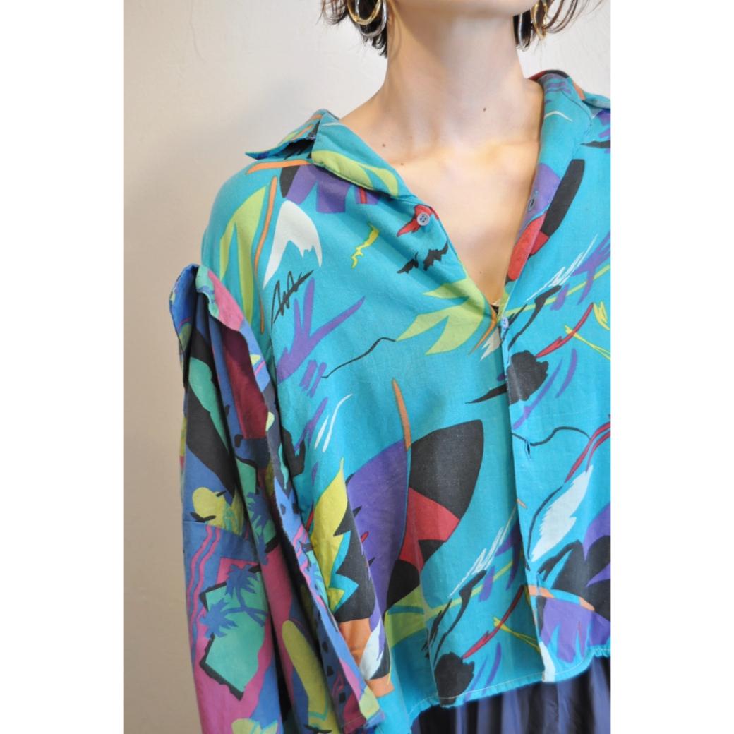 【RehersalL】W aloha shirt(mint 26) /【リハーズオール】Wアロハシャツ(ミント 26)