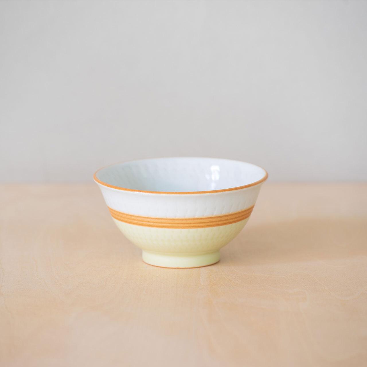 掛分飛鉋茶碗(小)・黄
