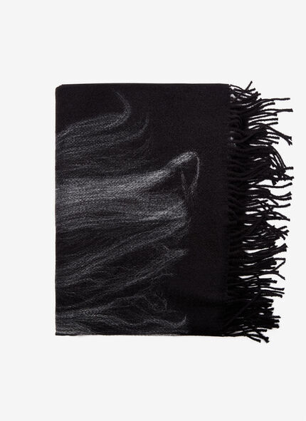 SCARF WITH CONTRASTING PRINT