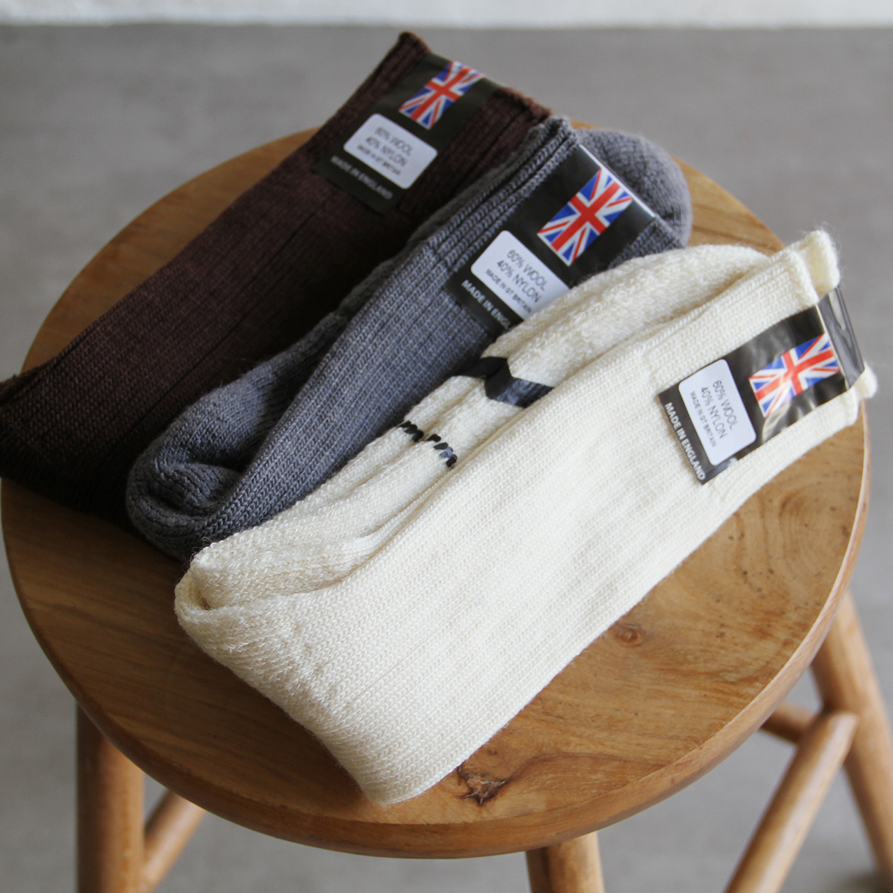 Yarmo【 womens 】cushion sole wool socks