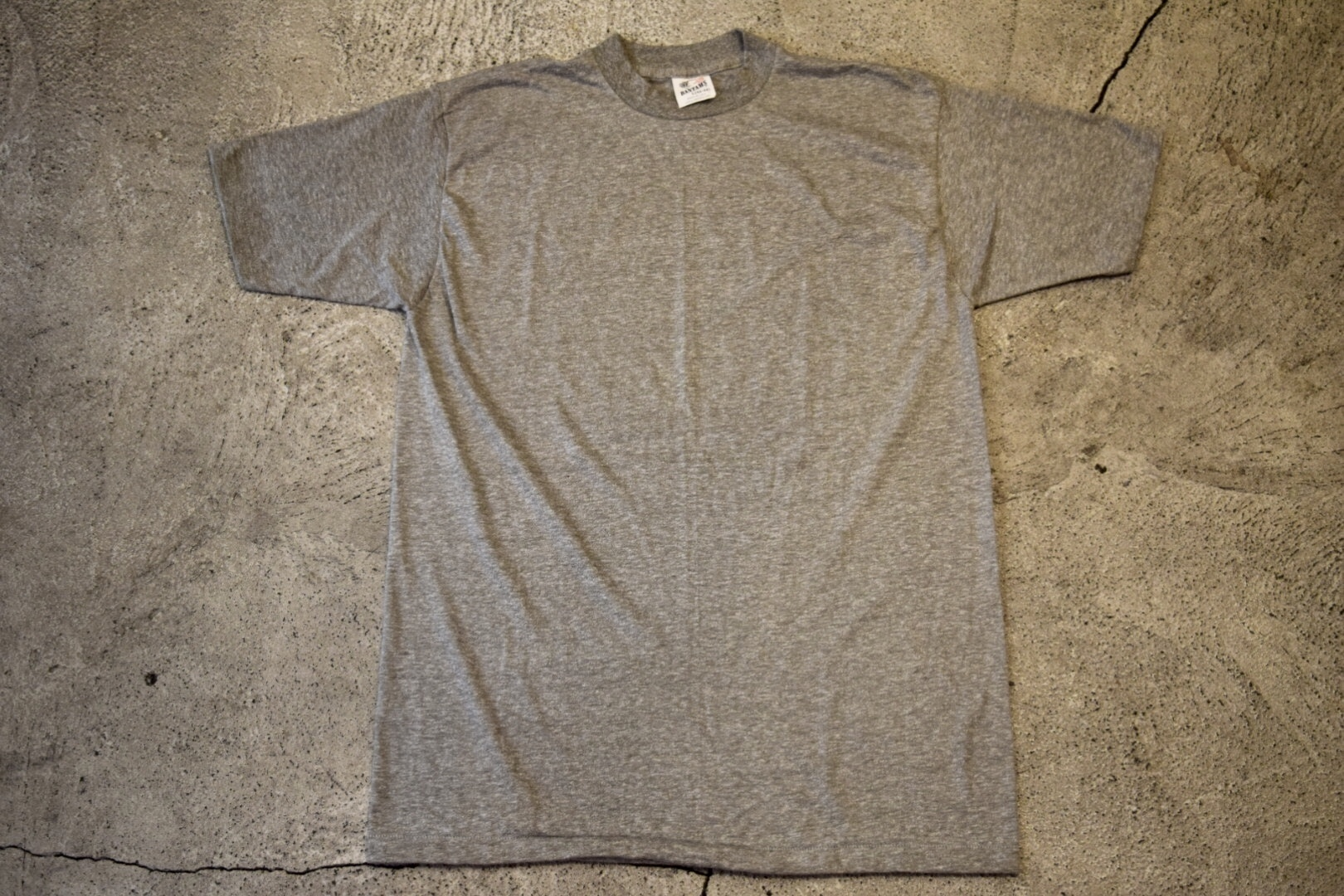 USED BANTAMS Solid T-shirt L 80s vintage made in USA T0421