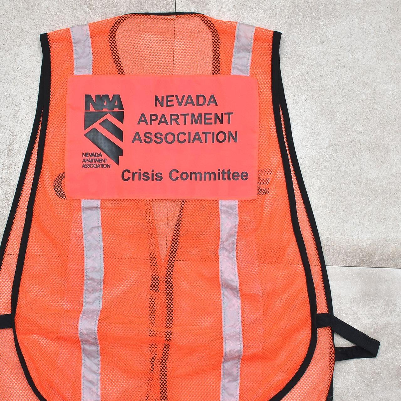 NAA crisis committee mesh security vest