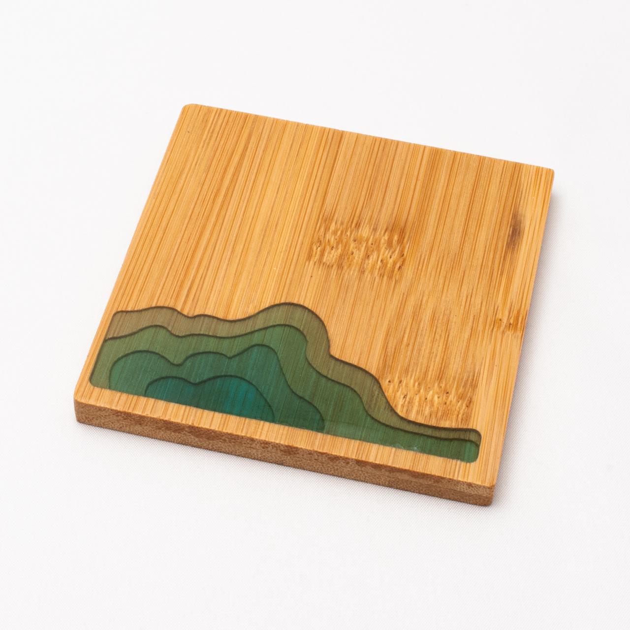 なぎさコースター/方形 (竹・樹脂)