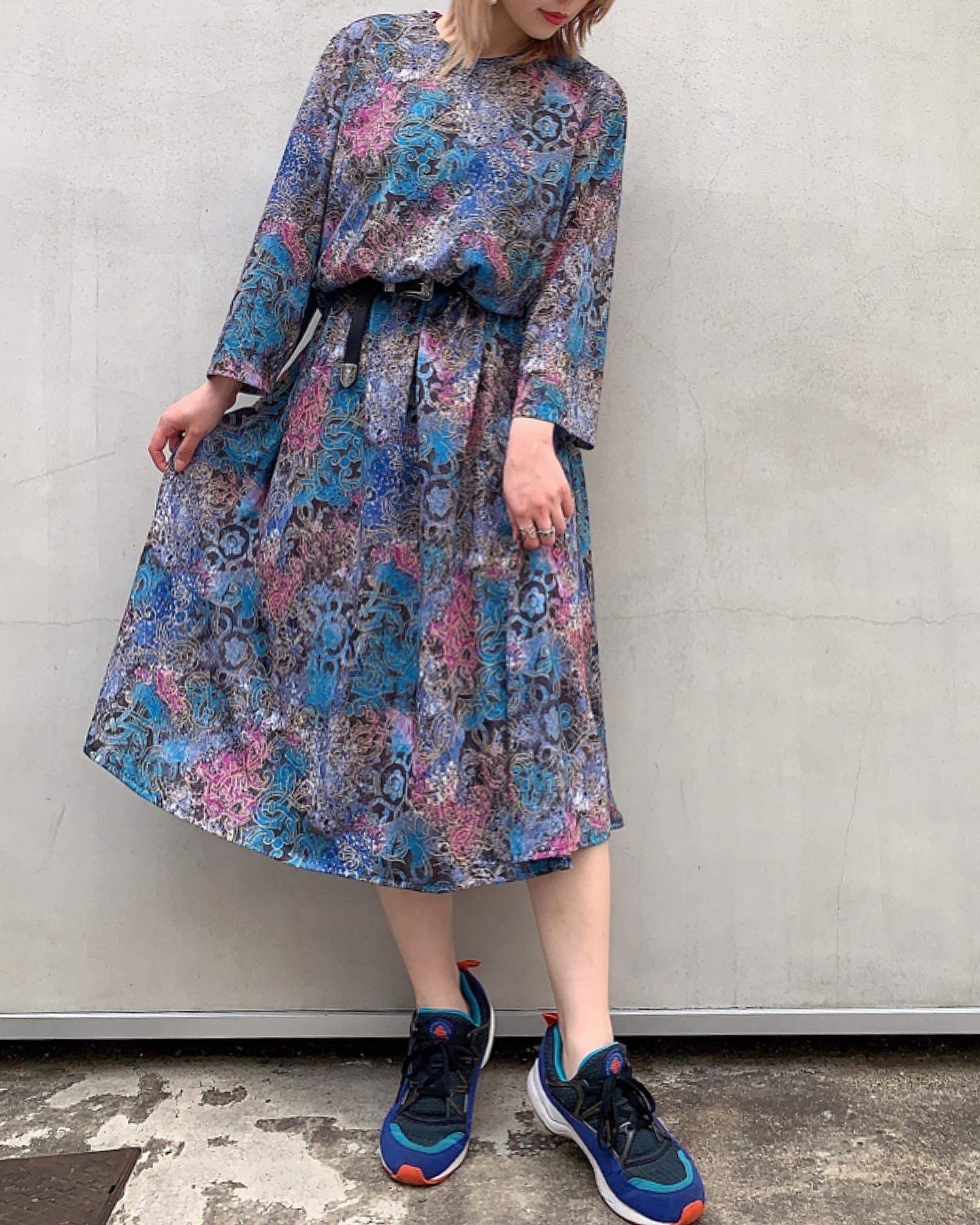 1970's vintage Flower print dress