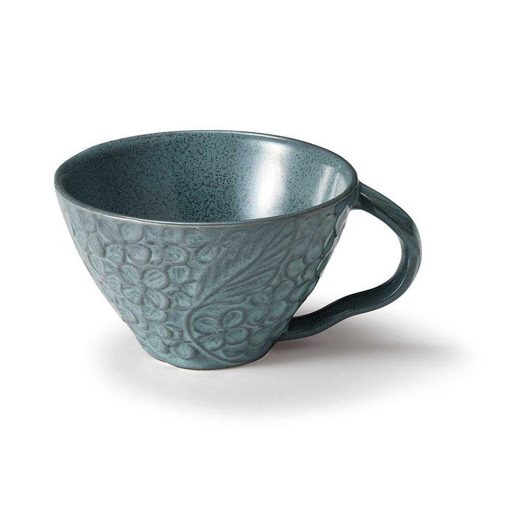「リアン Lien」スープカップ 直径約12cm 330ml アクア 美濃焼 267858