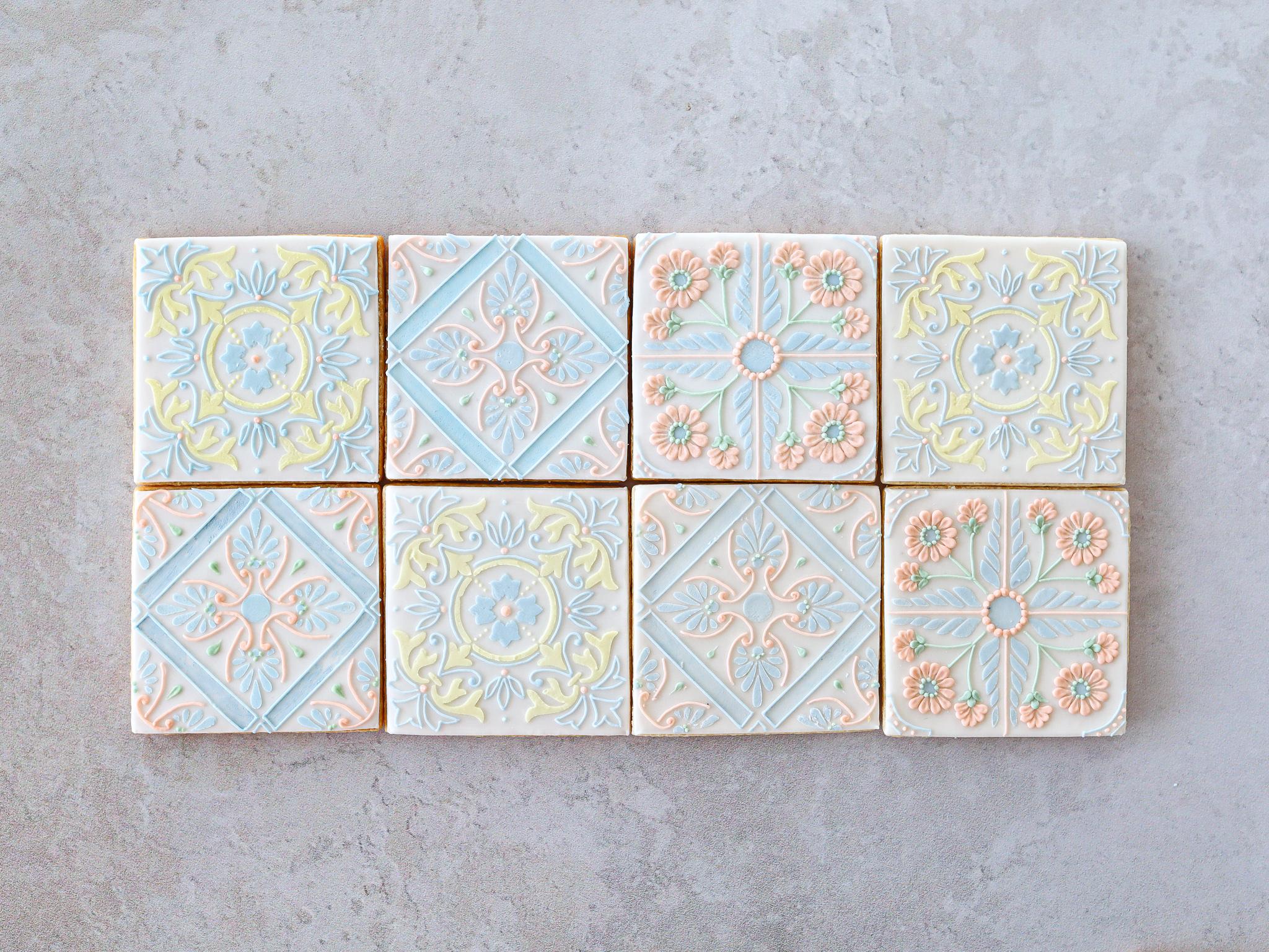 """Azulejos "" DIY cookie kit & Video lesson"