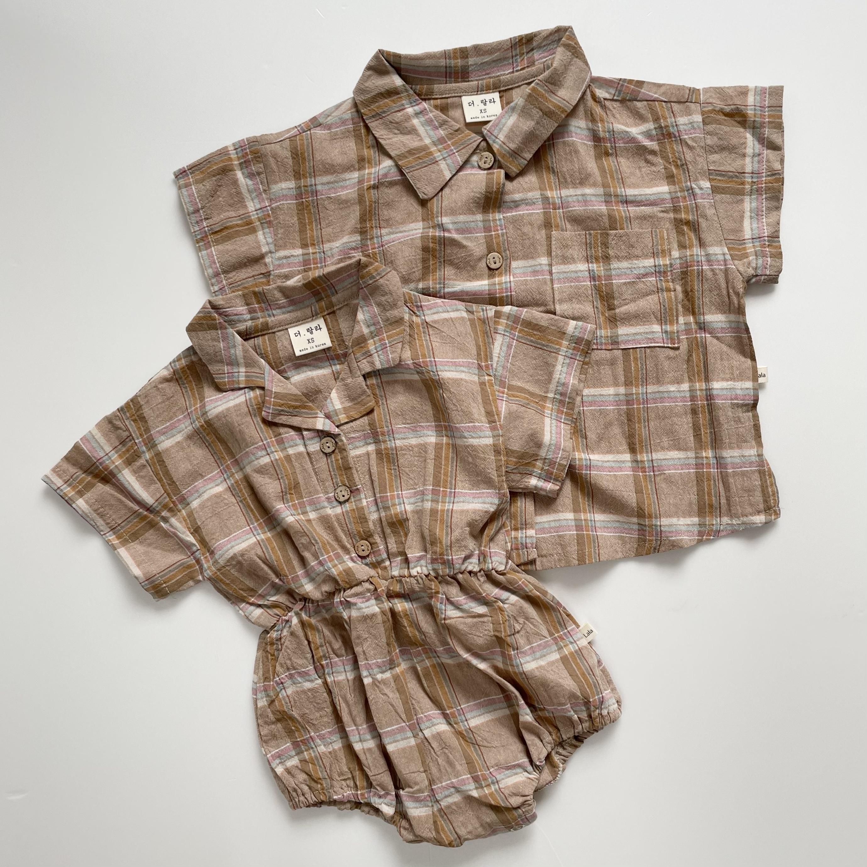 NO.1311 Checkshirt suit / Lalla