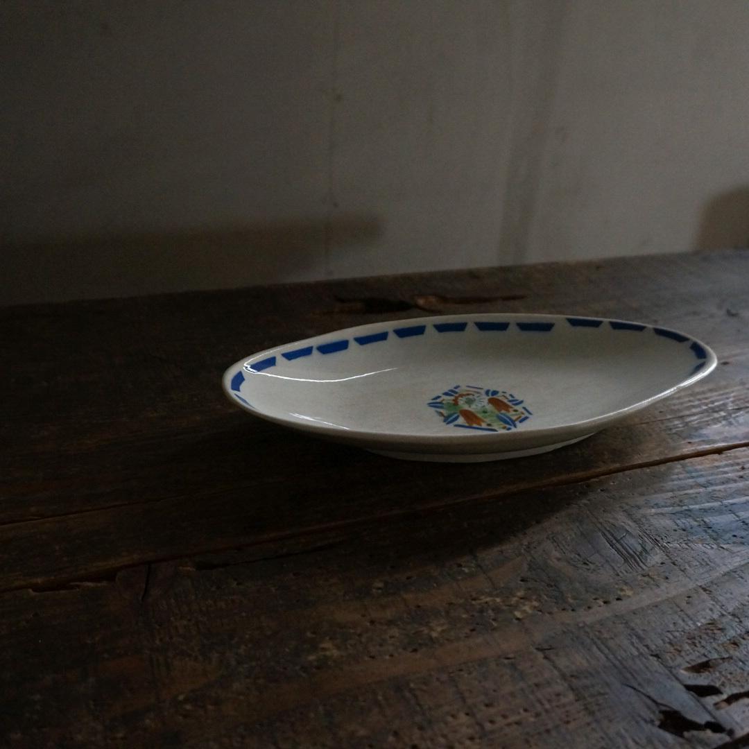 古いフランスの陶器皿