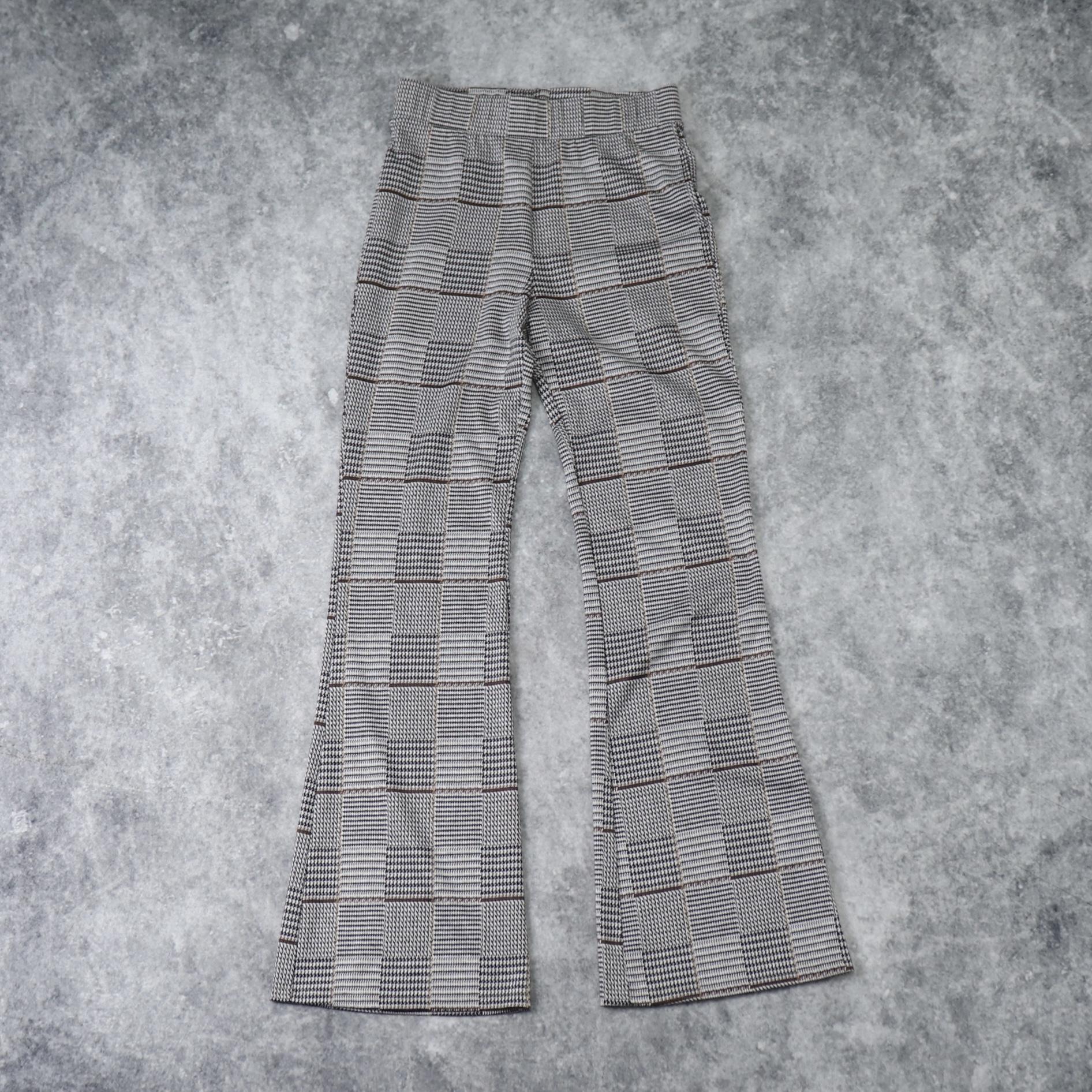 レディース 90〜00年代 チェック柄 フレアパンツ アメリカ古着 グレー 90〜00's Usa Used  Flared pants
