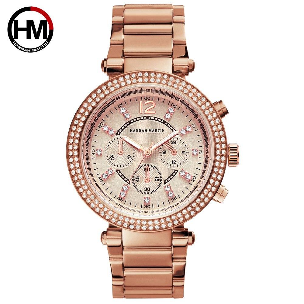 女性のラインストーン時計トップブランドの高級ビジネスファッション女性のダイヤモンドカジュアルクォーツ防水腕時計RelogioFeminino1196 -rose gold