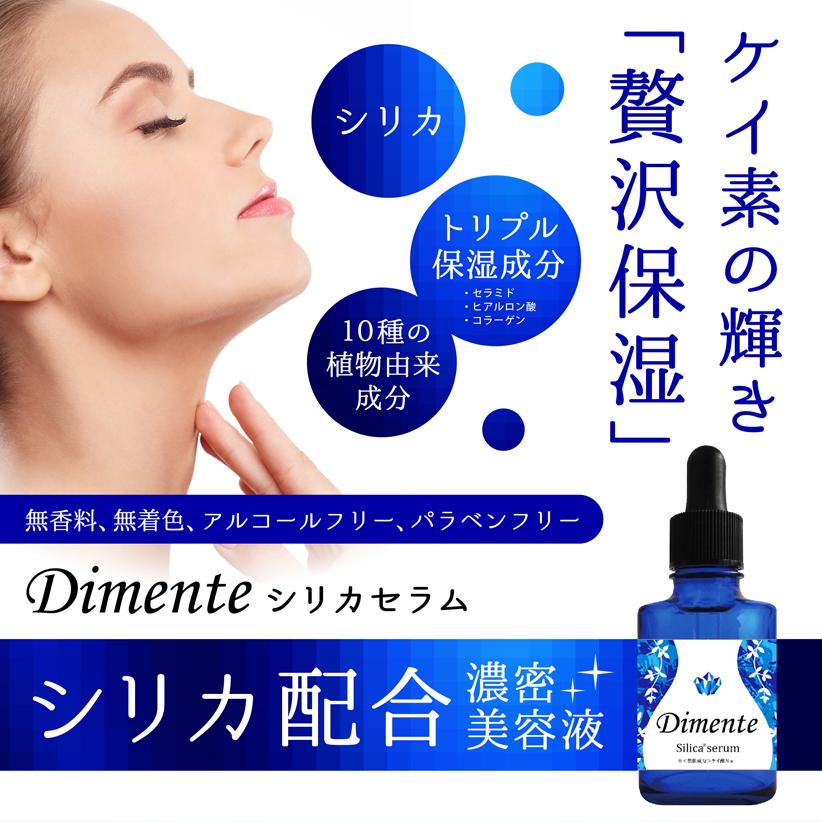 Dimente シリカセラム【シリカ配合高保湿美容液】4580597520021