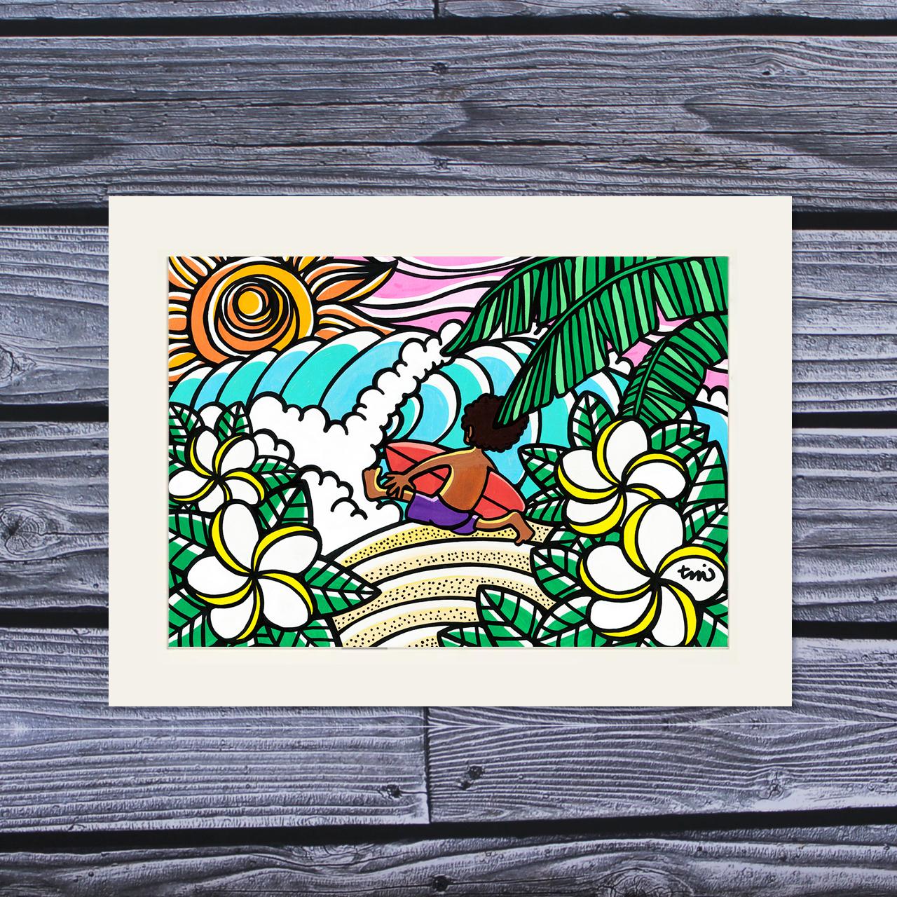 アートプリント A4(Surf Boy)