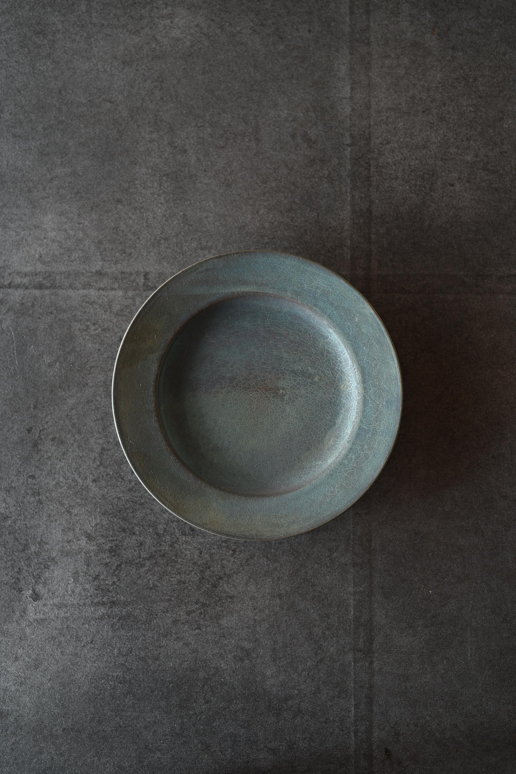 瀬川辰馬|硫化銀彩リムプレート小-s8
