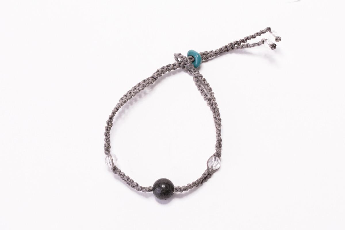 富士山溶岩ブレスレット[Lava Bracelet]〜 グレー 〜