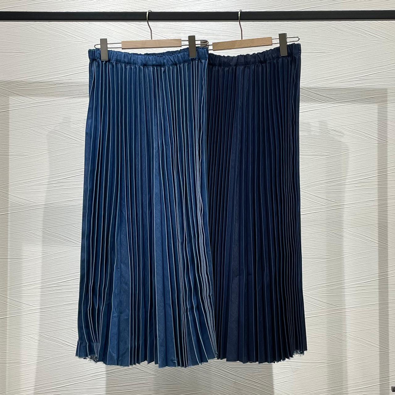 TCデニムプリーツスカート