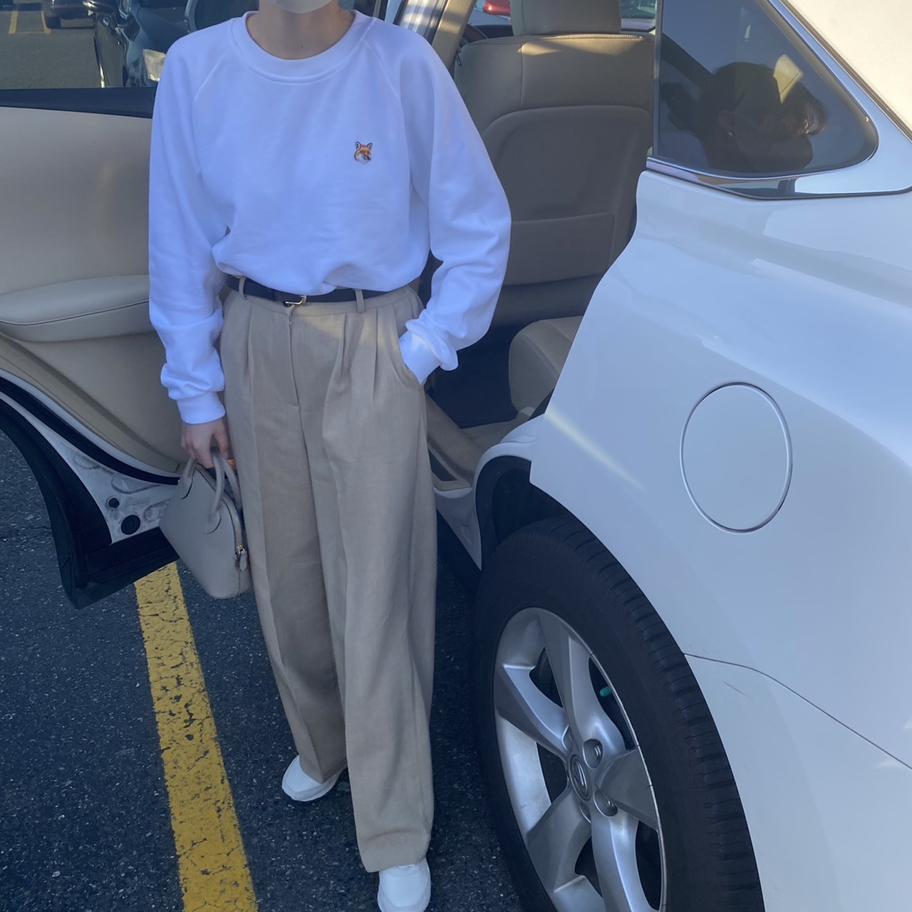 DAYNYC spring pants(beige) belt set