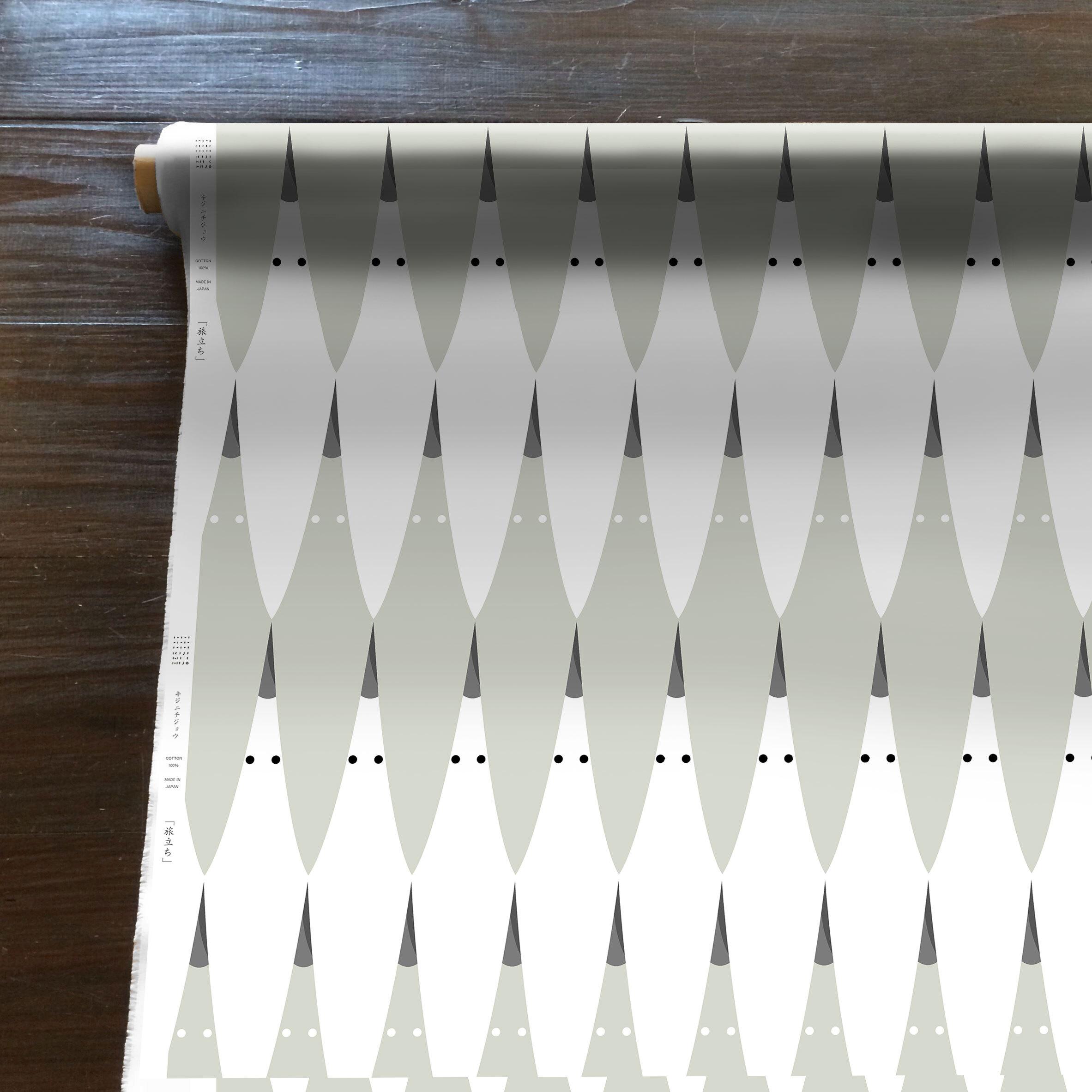 Tabidachi(白)[50cm×110cm]cotton