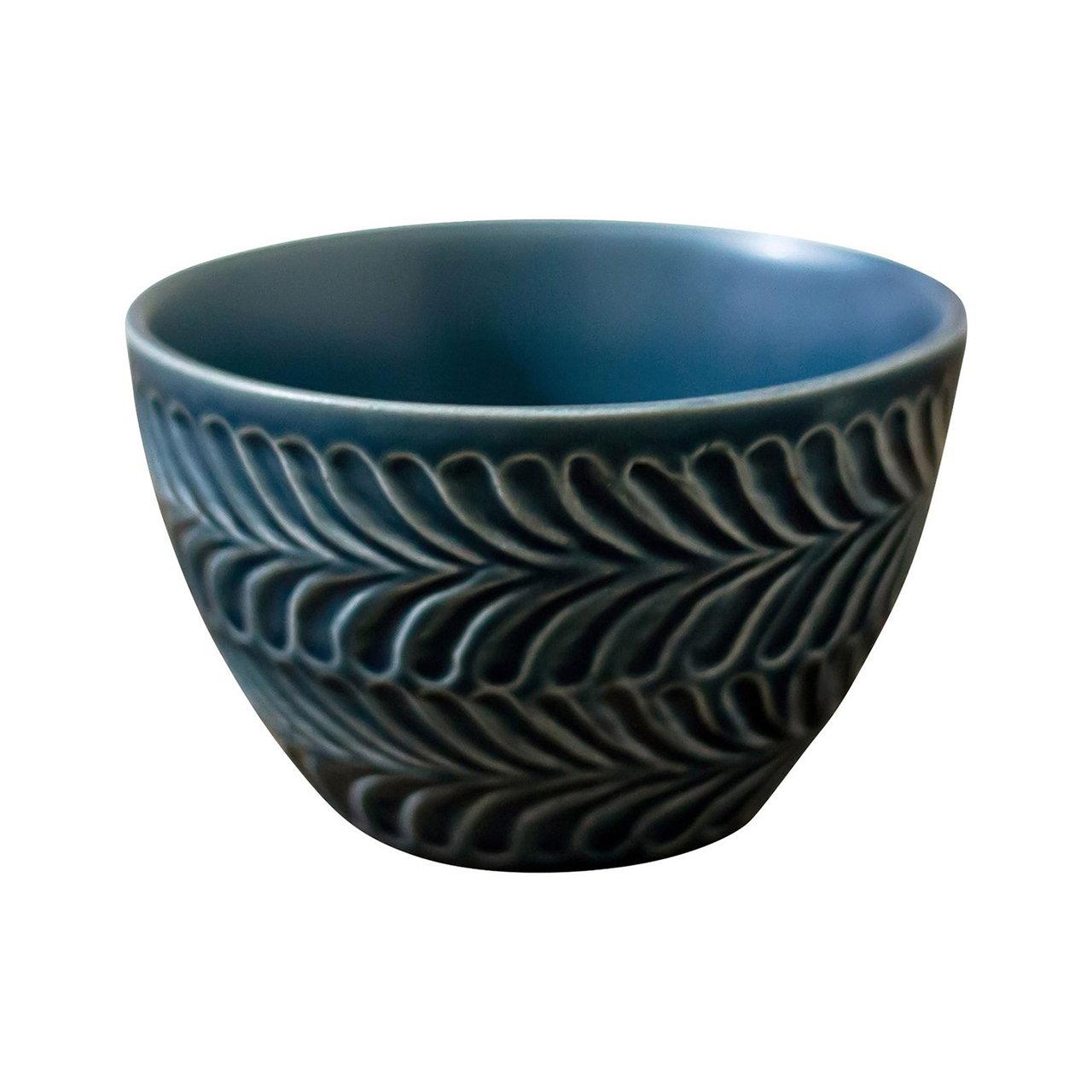 波佐見焼 翔芳窯 ローズマリー ライスボウル 茶碗 約11cm デニム 33393