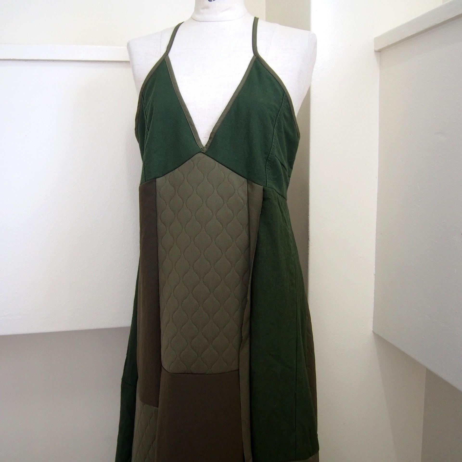 【RehersalL】military mix camisole dress /【リハーズオール】ミリタリーミックスキャミソールドレス