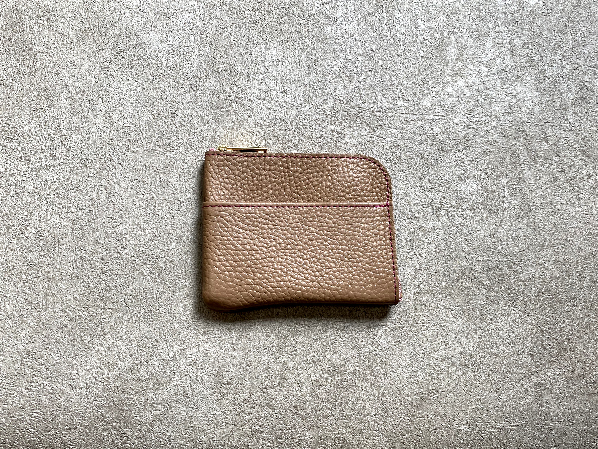 L-shaped Small Wallet: (soft shrink) Color : Camel