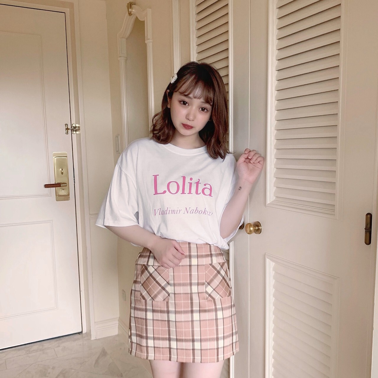 【meltie】check mini skirt