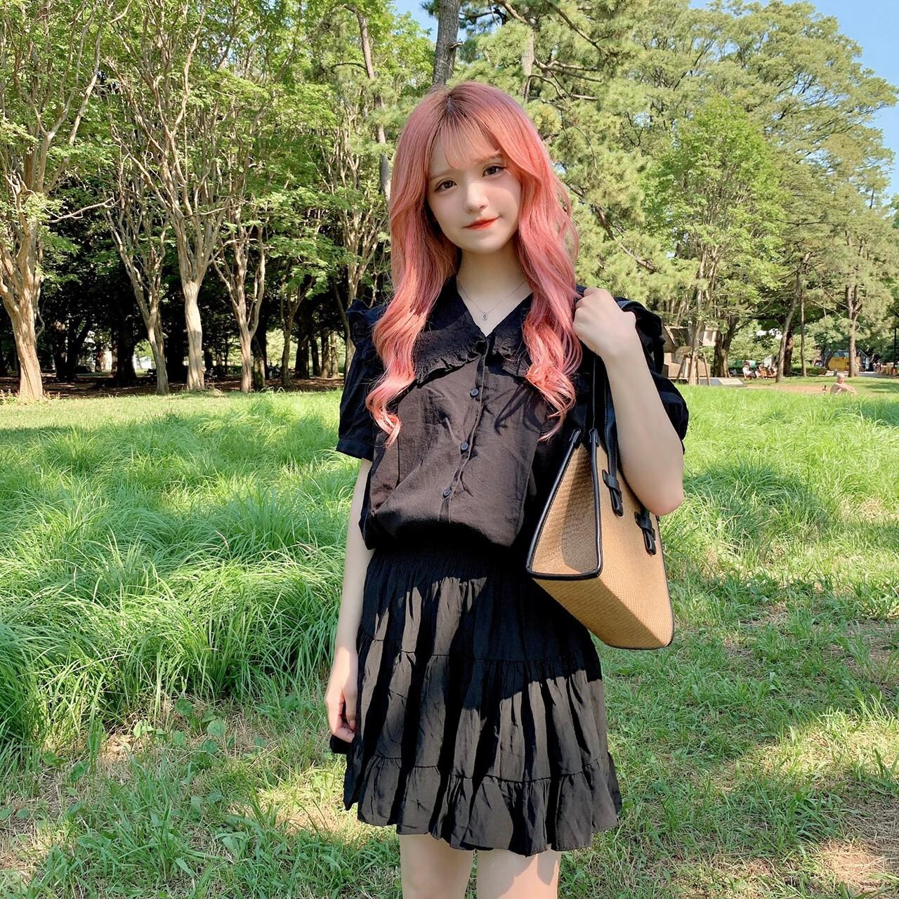 【ももはな】flare mini skirt