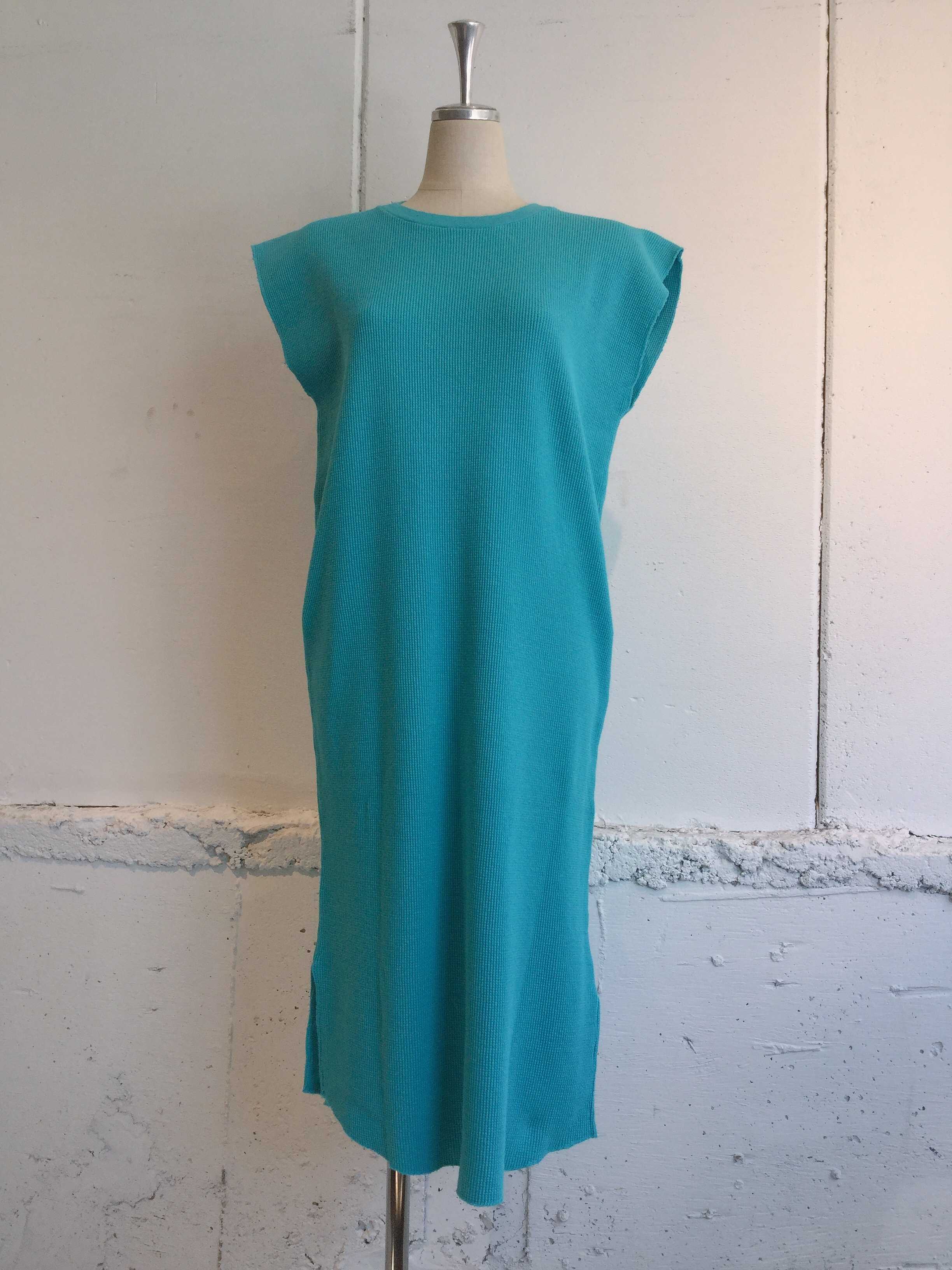 FILL THE BILL THERMAL NO SLEEVE ONEPIECE (TURQUOISE BLUE)