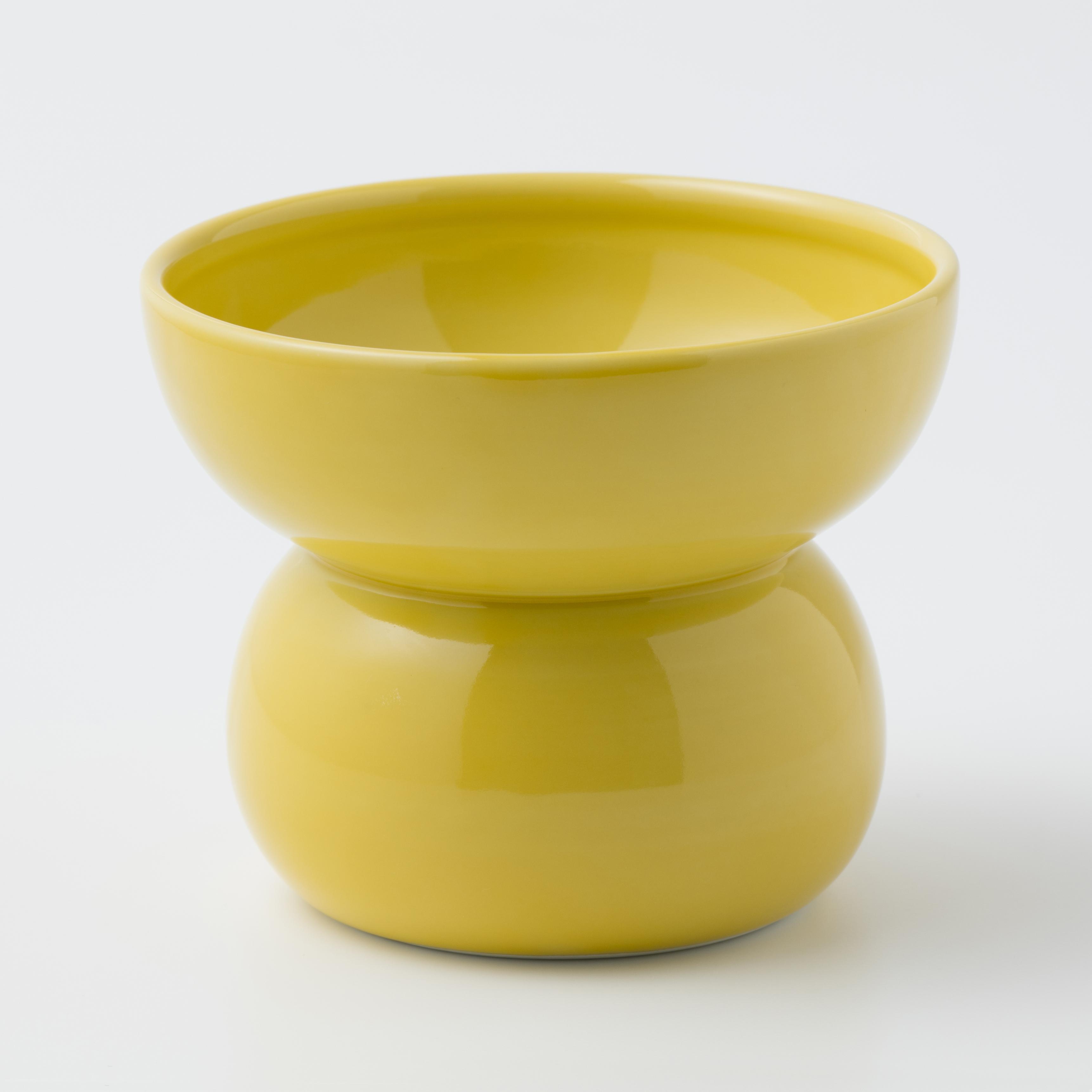 有田焼【まどか】 ハイタイプ(フード用) イエロー 製造:江口製陶所