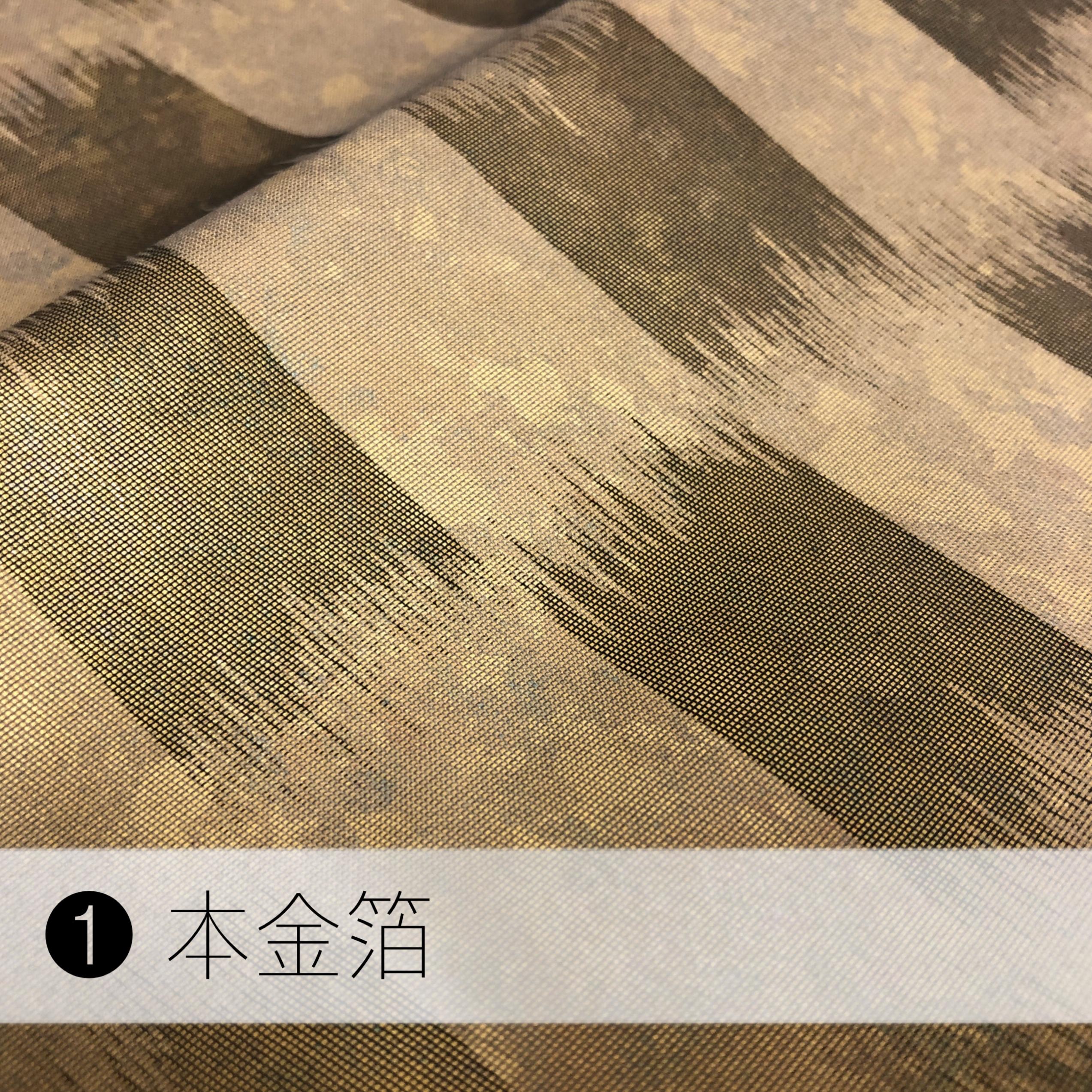 リッチブローチ/最高級生地を使用!本金箔 /プラチナ箔