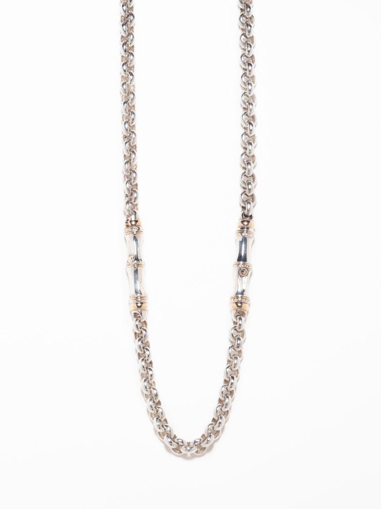 Combination Bamboo Design Necklace / Gucci